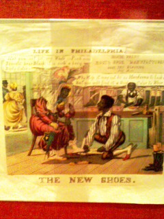 Check out this slave-era cartoon from my hometown of Philadelphia.  My heart bled when I stopped at this part of the exhibit.